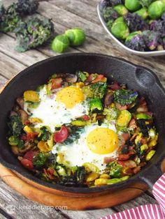 Brussels Sprout & Bacon Hash (low-carb, paleo, 7 g net carbs)