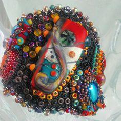 Rio de Janeiro: perle brodé Bracelet Murano focale en