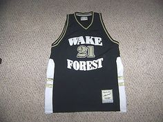 TIM DUNCAN #21 Wake Forest Throwback Basketball Jersey -- XL