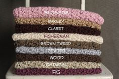 Chunky Mini Blankets / Layering Blankets for Photography in 9 Colors