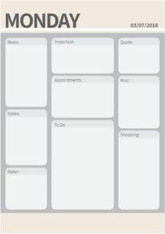 Multi-section daily planner. Edit online or print to fill in every day. Live your best life! Edit Online, Daily Planners, Planner Template, How To Stay Motivated, To Focus, Getting Organized, Live For Yourself, Life Is Good, Free Printables