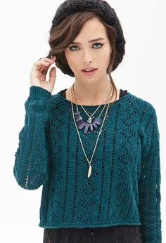 PEDIDOS SOLO POR ENCARGO Código: F-19 Boxy Open-Knit Sweater Color: Teal Talla: S-M-L Precio: ₡19.500 ($36,11)  Información y consulta whatsapp 8963-3317, escribir al inbox o maya.boutique@hotmail.com.  Envíos a todo el país.