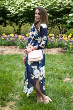 Garden Party | Floral Dress outfit, spring outfit, she inside dress, Mansur Gavriel Bag