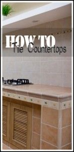 Kitchen Remodeling Countertops How to Tile Countertops. Building your own kitchen? Check this out! Learn how to tile your countertops. - Tiling isn't as hard as it looks, I promise! Home Improvement Projects, Home Projects, Home Renovation, Home Remodeling, Kitchen Remodeling, Bungalow, Tile Countertops, Backsplash, Simple House