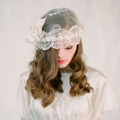 Vintage inspired lace bridal cap - Style 117 - Made to Order - As seen in Us Weekly. $315.00, via Etsy.