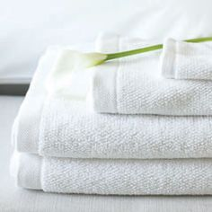 Fluffy, clean smelling, warm white towels