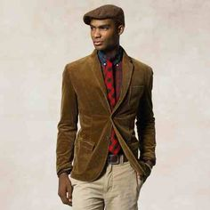 A lush brown corduroy jacket can you give you a very smart but casual look