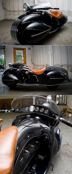 Art deco motorcycle.