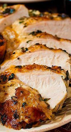 Grilled Basil Garlic Chicken Breasts - easy weeknight dinner!