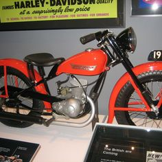 Vintage Harley Davidson Motorcycle from the Harley Davidson Museum in Milwaukee, Wisconsin. See more at MidwestBuzz.com