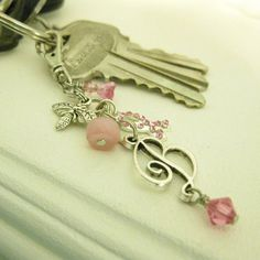 B is For Beverly  Key chain zipper pull purse charm by dkjewels, $12.00