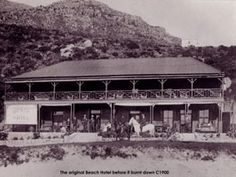Beach Hotel before the fire - Hout Bay Knysna, Cape Town South Africa, Historical Pictures, African History, Beach Hotels, Old Pictures, Road Trips, World, Places