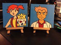 Pokemon Art- Misty and professor oak!