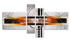 Arte dal Mondo AY045QX1 Abstrait Tableau Moderne sur Toile avec Châssis Acrylique Multicolore 85 x 160 x 3 cm: Amazon.fr: Cuisine & Maison