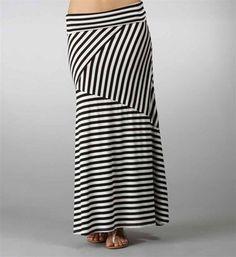 #Windsor                  #Skirt                    #Black-White #Asymmetrical #Maxi #Skirt             Black-White Asymmetrical Maxi Skirt                                           http://www.seapai.com/product.aspx?PID=1733345