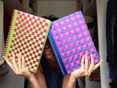 DIY: Personalize seu caderno com fitas! Evelyn Kieski - YouTube Diy Embroidered Notebook, Cardboard Costume, Origami, Diy Ribbon, Weaving Art, Journal Covers, Hatsune Miku, Mixed Media, Diy Crafts