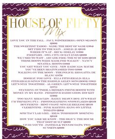 House of Fifty's Fall Music Mix