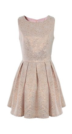 This would be beautiful for the rehearsal dinner with nude pumps