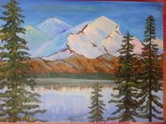 mountain painting - Google Search Under The Table, Mountain Paintings, Mountains, Google Search, Nature, Travel, Viajes, Naturaleza, Destinations