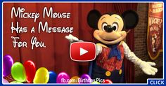 Mickey Mouse Has A Message For You - Birthday Video Card 1