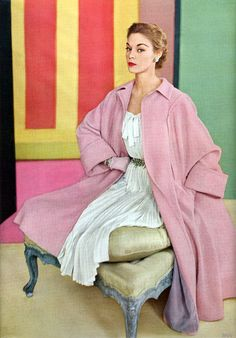 colour me happy    Jean patchett - Vogue January 1952  Conde Nast Archive  see more Jean @ http://jeanpatchett.tumblr.com/