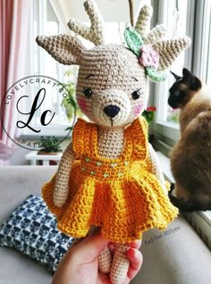 Crochet Deer, Crochet Amigurumi Free Patterns, Crochet Baby Hats, Cute Crochet, Crochet Animals, Doll Amigurumi Free Pattern, Crochet Doll Pattern, Amigurumi Doll, Deer Pattern