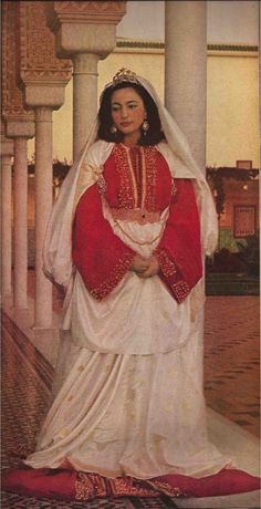 Princess Lalla Nezha Red Caftan #Vogue
