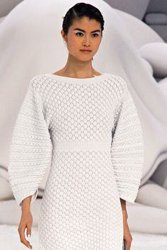 Chanel Spring 2012. billowing sweater sleeves.