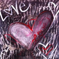 Mixed media Original Art Painting Love by TheArtsySister on Etsy, $45.99