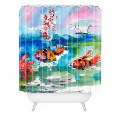 Ginette Fine Art Clownfish Shower Curtain | DENY Designs Home Accessories