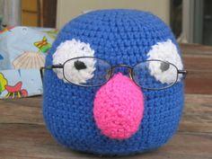 Muppet Grover Crochet Glasses Holder Free Pattern