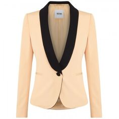 Moschino Cheap and Chic Twill and satin jacket