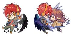 "oyakorodesu: ""idk if i should make keychain of mm charas x mc or just individuals… 6a6 its still a WIP~ """