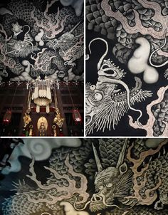 The historic Zen Buddhist temple of Kennin-ji in Kyoto was founded in 1202 CE, but its ceiling received dramatic modern paintings of two dragons in 2002 for its 800th anniversary. Artist Koizumi Junsaku gave the work a bold graphic quality, but the art is highly influenced by traditional Japanese aesthetics that are even older than the building.