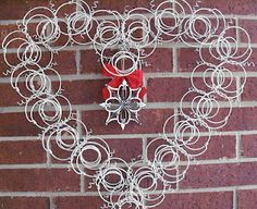 Bedspring wreath