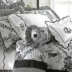 Black And White Toile Bedding