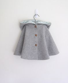 Childs Wool Cape vintage style by OneMe on Etsy, $42.00