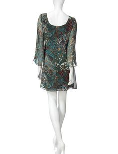 Ronni Nicole Multicolor Paisley Print Shift Dress | Stage Stores