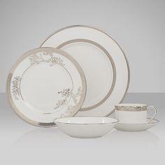 Buy Vera Wang for Wedgwood Lace Platinum Tableware Online at johnlewis.com
