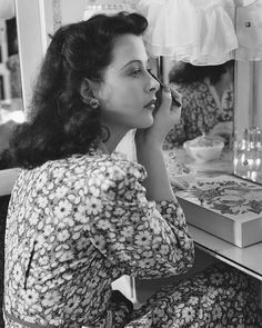 Hedy Lamarr at home photographed by Clarence Sinclair Bull, 1944.