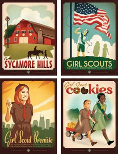 Anderson Design Girl Scouts of Middle Tennessee 100th anniversary poster series