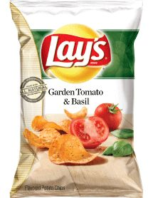 LAY'S® Garden Tomato & Basil Flavored Potato Chips #Chips #Dips #Salsa #Potato #Kettle #Corn #Rice