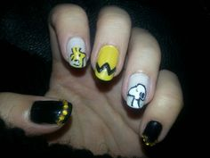 Snoopy & Woodstock nails!