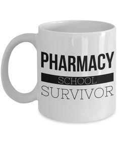 bb9429e7849e98 Coffee Mug Gifts for Pharmacy Graduation - Pharmacy School Survivor Ceramic  Coffee Cup