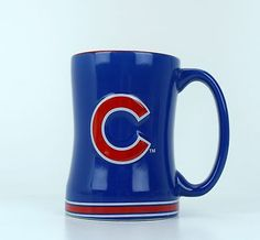 Chicago Cubs Coffee Mug Cup MLB Relief 15oz Blue Red Baseball Team Souvenir