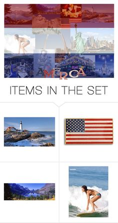 """America the Beautiful"" by fayelon ❤ liked on Polyvore featuring art"