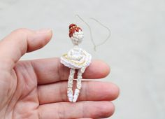 Miniature Ballerina. Crochet ballerina doll. by FancyKnittles, £7.00