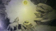 Illustrazioni paesaggi con animali