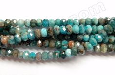"""Apatite w/ Brown HK Natural A - Small Faceted Rondel 16"""""""