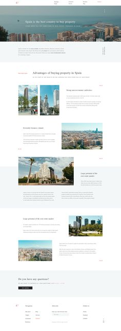 Real estate, concept design website